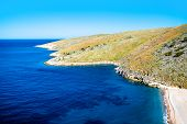 image of albania  - Beautiful Dhermi beach with rocky mountains on background in Albania - JPG