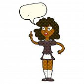 foto of maids  - cartoon worried maid with speech bubble - JPG