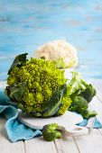 picture of romanesco  - Various types of cabbage - JPG