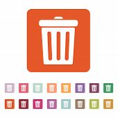 pic of dustbin  - The trashcan icon - JPG