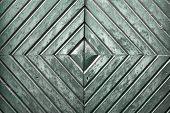 image of wooden door  - Details of an old wooden door with diamond pattern - JPG