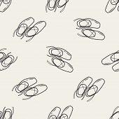 stock photo of ballet shoes  - Ballet Shoes Doodle - JPG