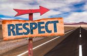 picture of respect  - Respect sign with road background - JPG