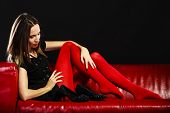 foto of legs apart  - Elegance and fashion outfit - JPG