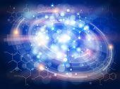 foto of formulas  - Technology blue background  - JPG