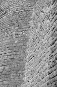 foto of fortified wall  - Limestone fortress wall in Tallinn Estonia - JPG