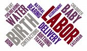 picture of birth  - Labor and birth word cloud on a white background - JPG