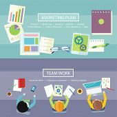 picture of combine  - Team work coworking concept - JPG
