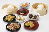 picture of chinese menu  - Group of stream Dim Sum chinese food  - JPG