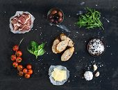 picture of deli  - Ingredients for sandwich with smoked meat - JPG