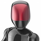 picture of cyborg  - Bot robot cyborg android futuristic artificial character concept black metallic shiny - JPG