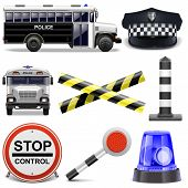 foto of police  - Police Icons including police bus - JPG