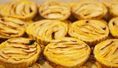 image of pasteis  - Tray with loads of delicious portuguese pastries - JPG