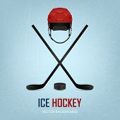 picture of ice hockey goal  - Ice hockey helmet - JPG
