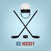 stock photo of ice hockey goal  - Ice hockey helmet - JPG