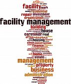 picture of stewardship  - Facility Management word cloud concept - JPG
