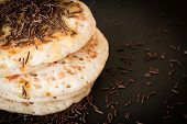 foto of maple syrup  - pancakes with honey and maple syrup with chocolate sprinkles - JPG