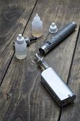 picture of e-cigarettes  - advanced vaping device on the table e - JPG