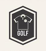 picture of miniature golf  - golf design over white background vector illustration - JPG