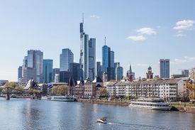 foto of frankfurt am main  - Frankfurt downtown skyline and the river Main - JPG