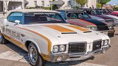 Постер, плакат: Indy 500 Pace Cars Cutlass Mustang Regal Fiero Woodward Dream Cruise MI