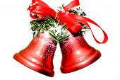 Christmas Bells On White Background poster