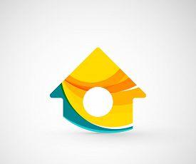 image of logo  - Abstract geometric company logo home - JPG