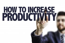 picture of productivity  - Business man pointing the text - JPG