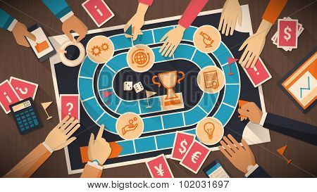business and competition board game poster id102031697