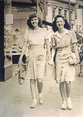 Vintage Photo Women Shopping