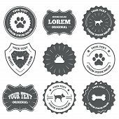 Постер, плакат: Pets icons Dog paw and feces signs
