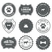 Постер, плакат: Pets icons Dog paw and feces signs