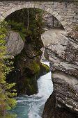 picture of gneiss  - Old stone bridge over Gudbrandsjuvet Western Norway - JPG