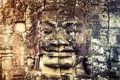 Постер, плакат: Cambodia icon face