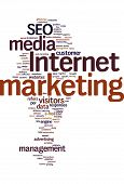 Internet marketing Text Wolke