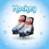 Постер, плакат: Ice Hockey Skates Vector