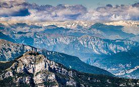 foto of italian alps  - Views of the Dolomites Italian alps famous worldwide - JPG
