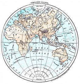 image of eastern hemisphere  - Earth - JPG
