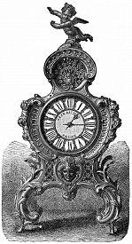 stock photo of pendulum  - Pendulum of rococo style - JPG