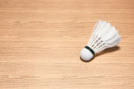image of shuttlecock  - Background image of shuttlecock on the table for badminton player - JPG