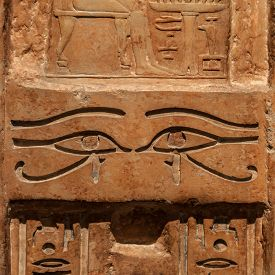 stock photo of hieroglyphic  - Detail of an original Egyptian hieroglyphic  - JPG