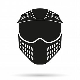 pic of paintball  - Silhouette symbol of paintball mask with goggles - JPG