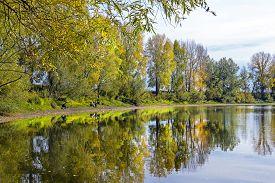 image of novosibirsk  - Fishing in warm autumn day - JPG
