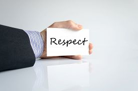 stock photo of respect  - Respect text concept isolated over white background - JPG