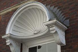 stock photo of canopy  - White shell  - JPG