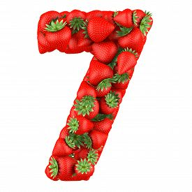 pic of number 7  - Number seven made from Strawberry - JPG