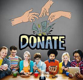 pic of generous  - Donate Money Charity Generous Hands Concept - JPG