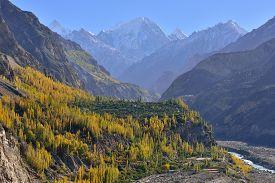 picture of karakoram  - Beautiful Landscape of Hunza Valley in Autumn season - JPG