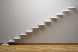 picture of plinth  - Business rise forward achievement progress way success and hope creative concept - JPG