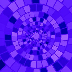 stock photo of hypnotic  - Blue Mosaic Background - JPG